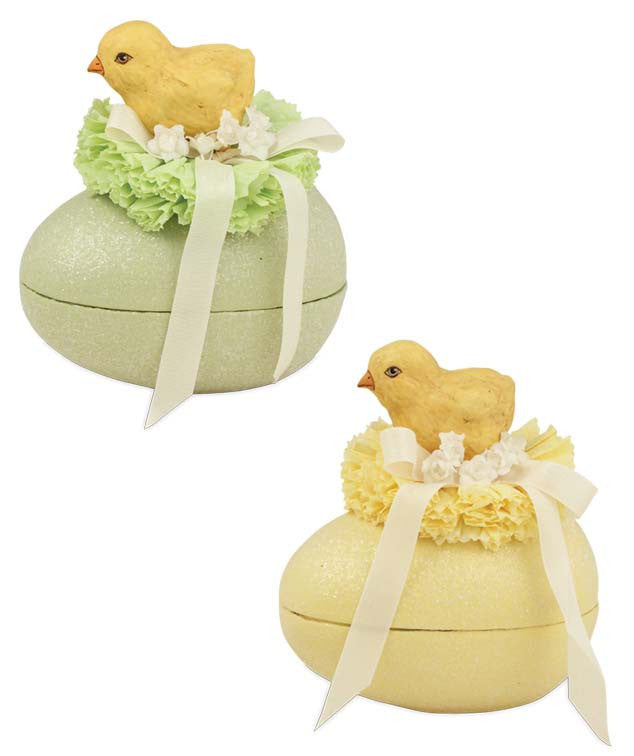 Chicks on Egg Containers - Bethany Lowe Easter