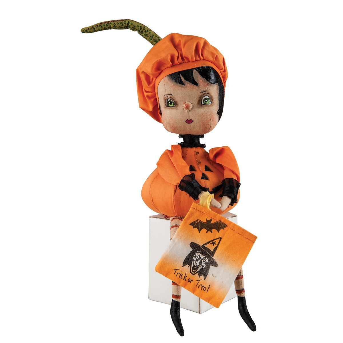 Christabel Pumpkin Girl by Joe Spencer  sc 1 st  The Holiday Barn & Christabel Pumpkin Girl in Costume Joe Spencer Halloween ...