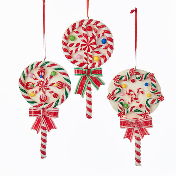 Christmas Candy Lollipop Ornaments - Claydough