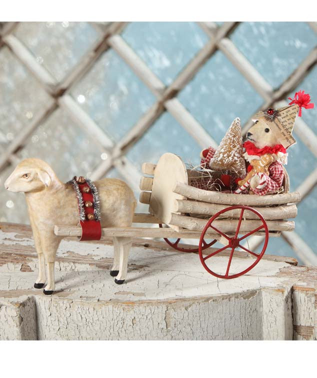 Christmas Cart Teddy - Vickie Smyers
