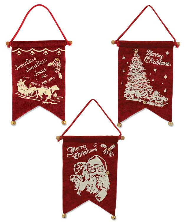 Christmas Felt Banner Ornaments