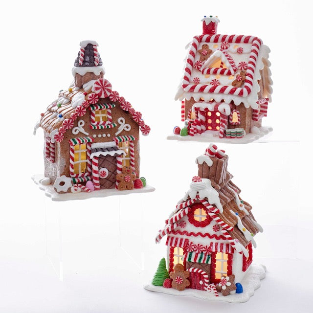 Gingerbread Village Houses with Lights
