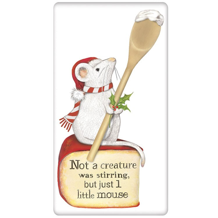 Christmas Mouse Flour Sack Towel