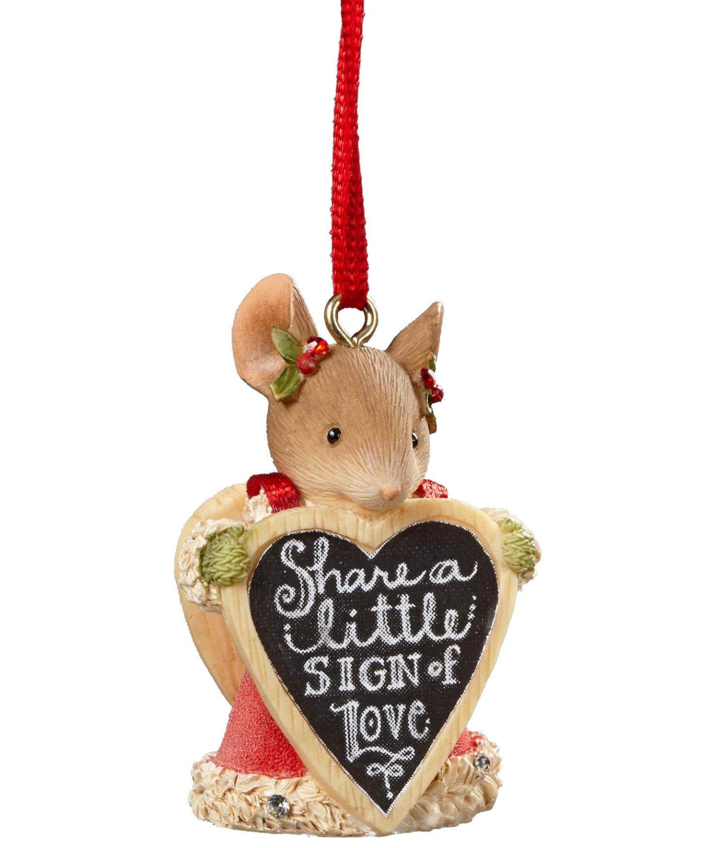 Share a Little Sign of Love Mouse Ornament