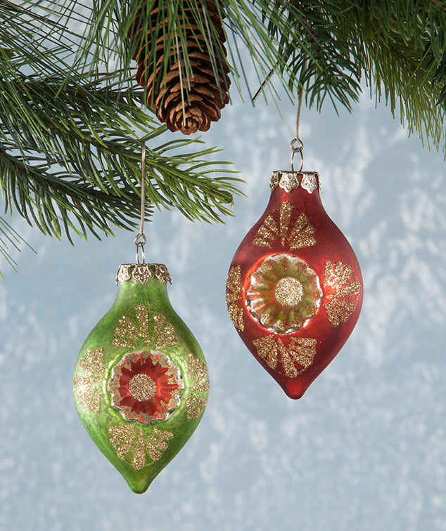 Christmas Onion Indent Ornaments - Vintage Christmas Decorations