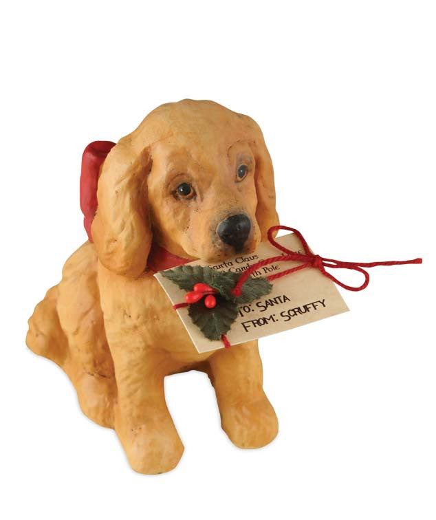 Christmas Puppy with Letter to Santa