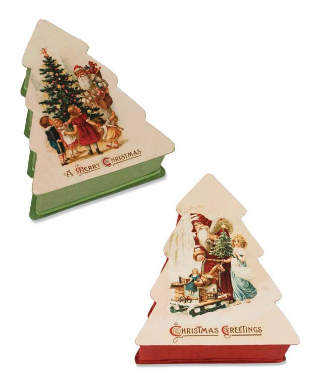 Christmas Tree Nesting Treat Boxes by Bethany Lowe