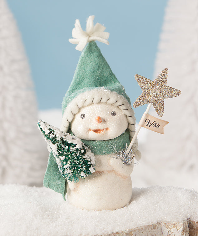 Christmas Wishes Snowman Figurine