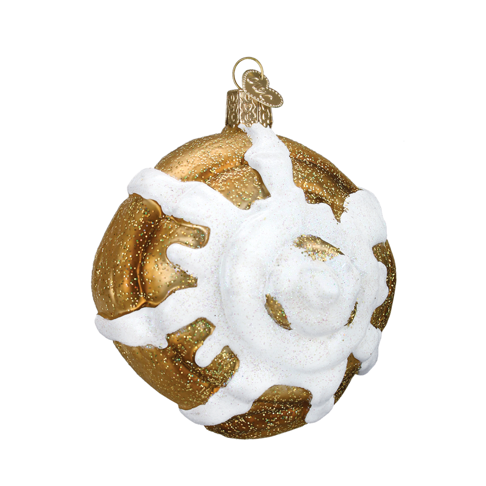 cinnamon roll ornament glass old world christmas ornaments