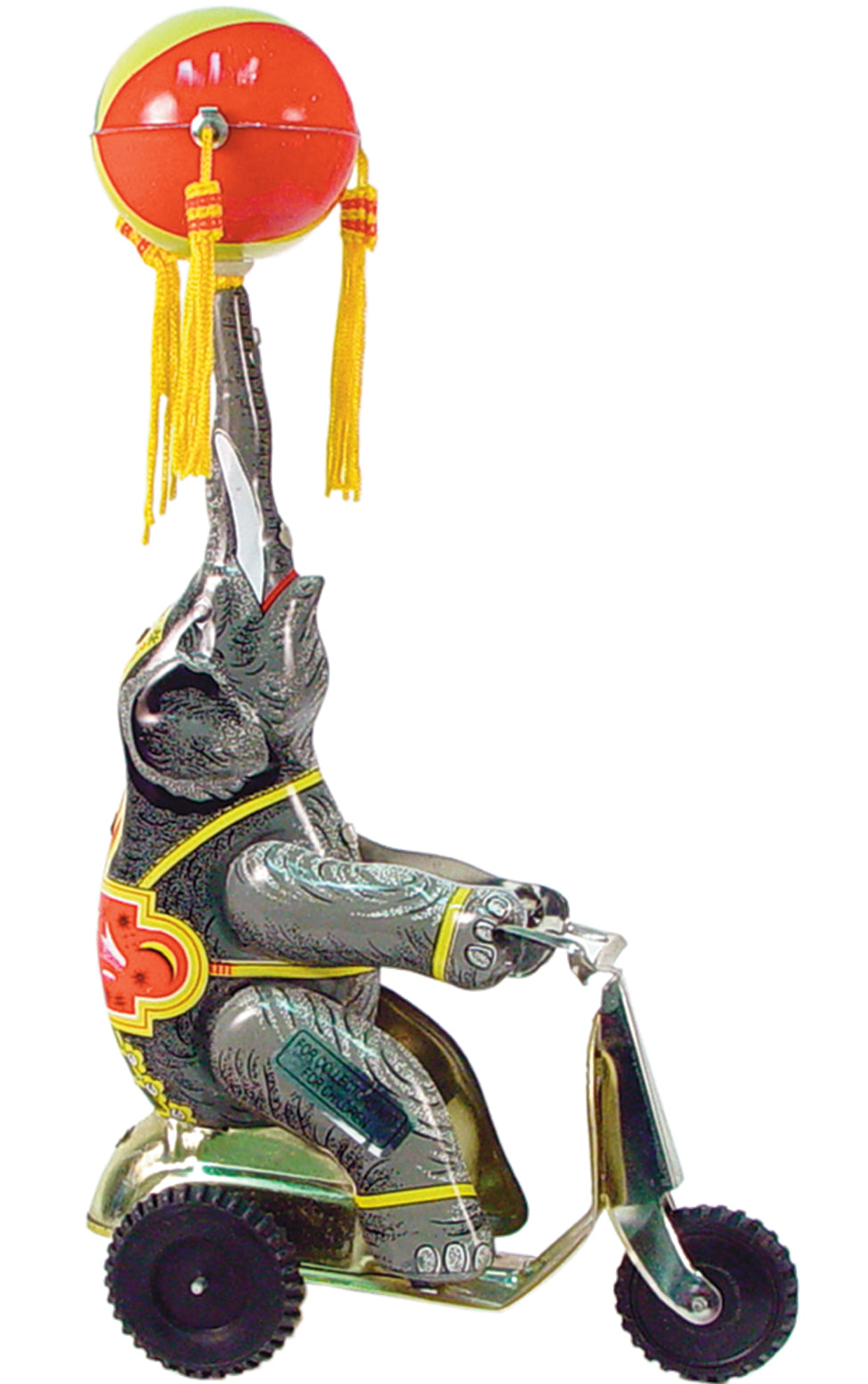 Circus Elephant on Scooter Wind Up Tin Toy Reproduction
