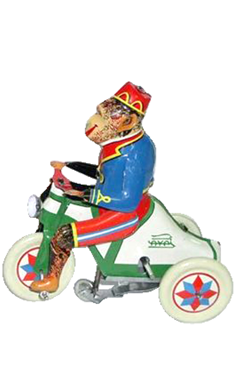Circus Monkey on Tricycle Wind-Up Tin Toy Reproduction