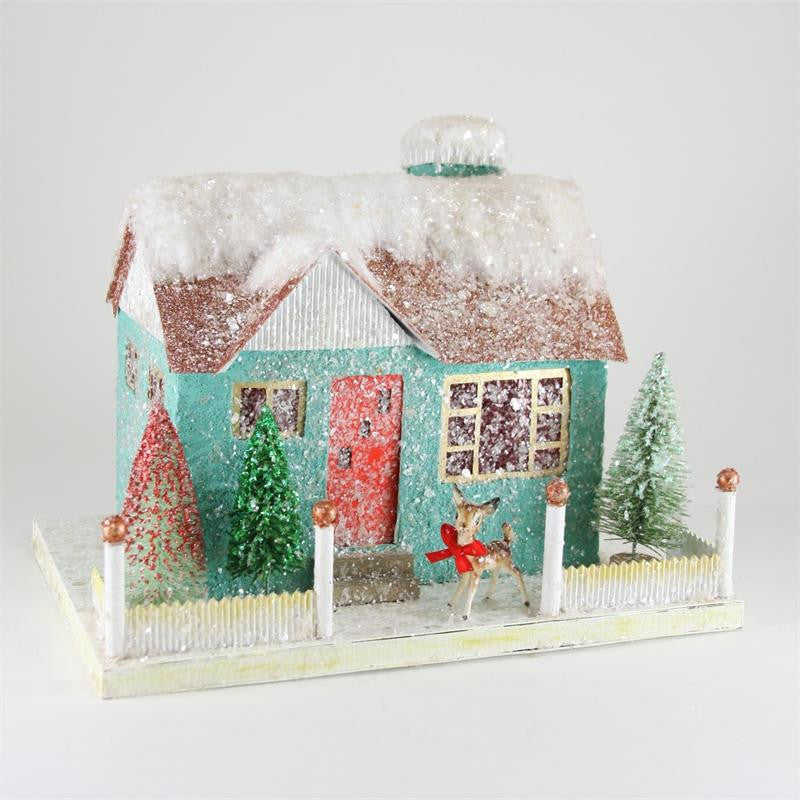 Kitsch House with Reindeer