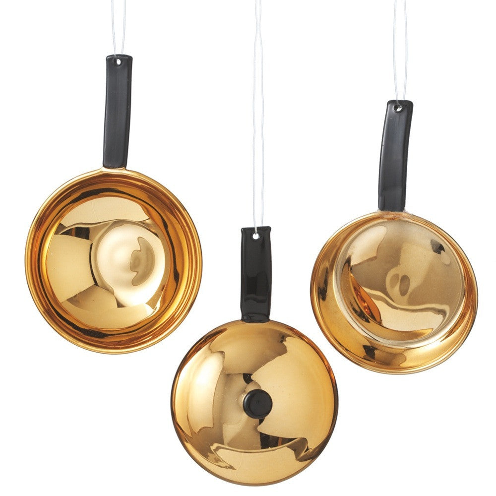 Copper Pan Ornaments | Cookware Christmas Decorations