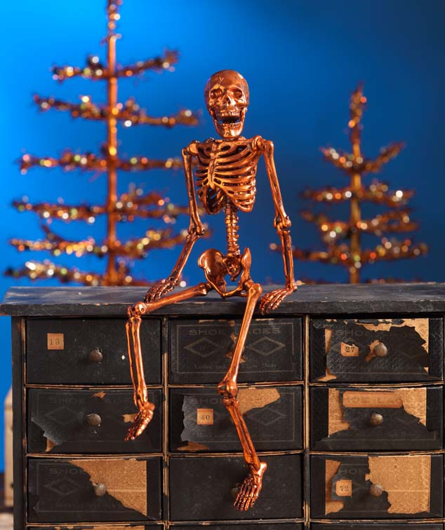 Bethany Lowe Copper Skeleton Prop
