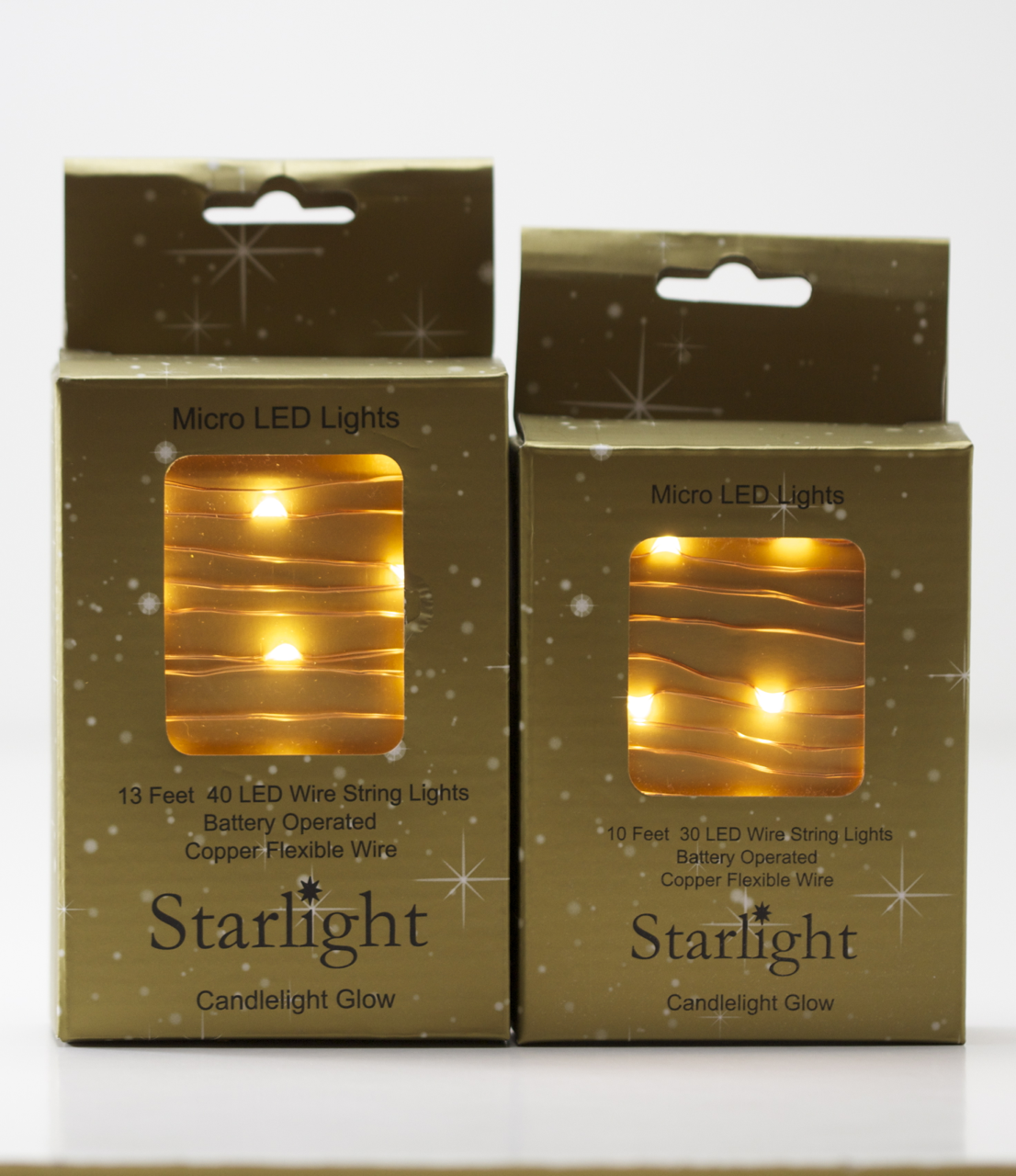 LED Copper Wire Battery Operated String Lights - TheHolidayBarn.com