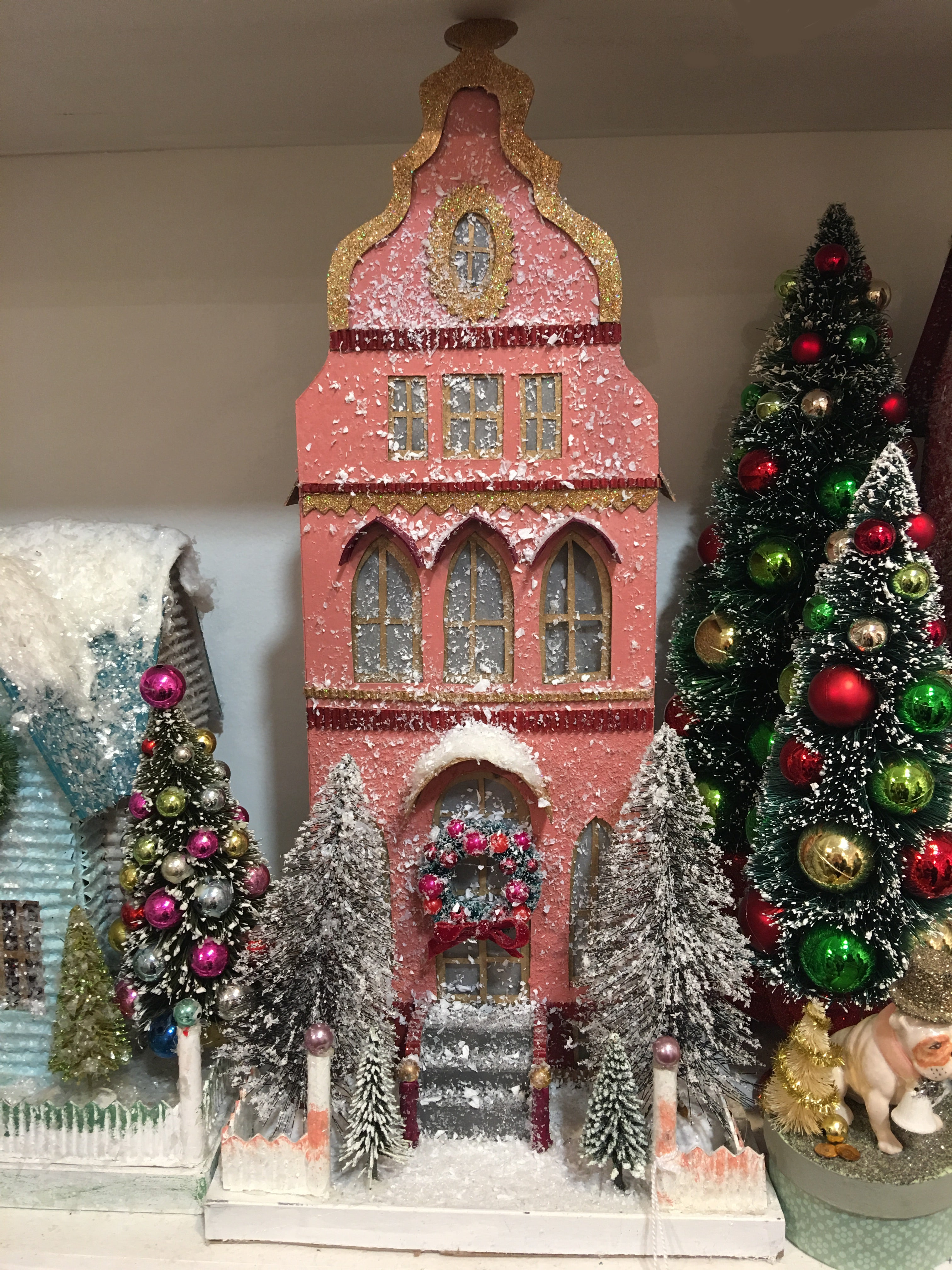Coral Townhouse - Putz Christmas Houses