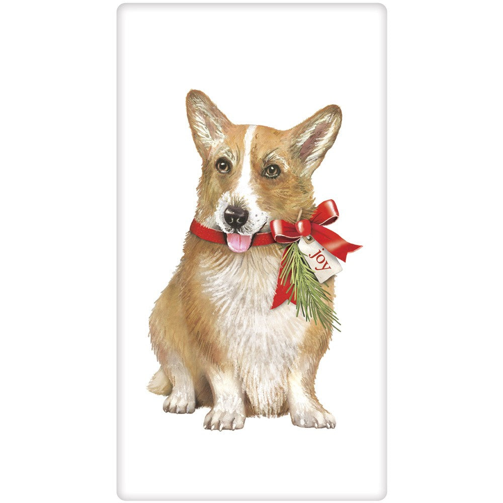 Corgi Christmas Joy Flour Sack Towel