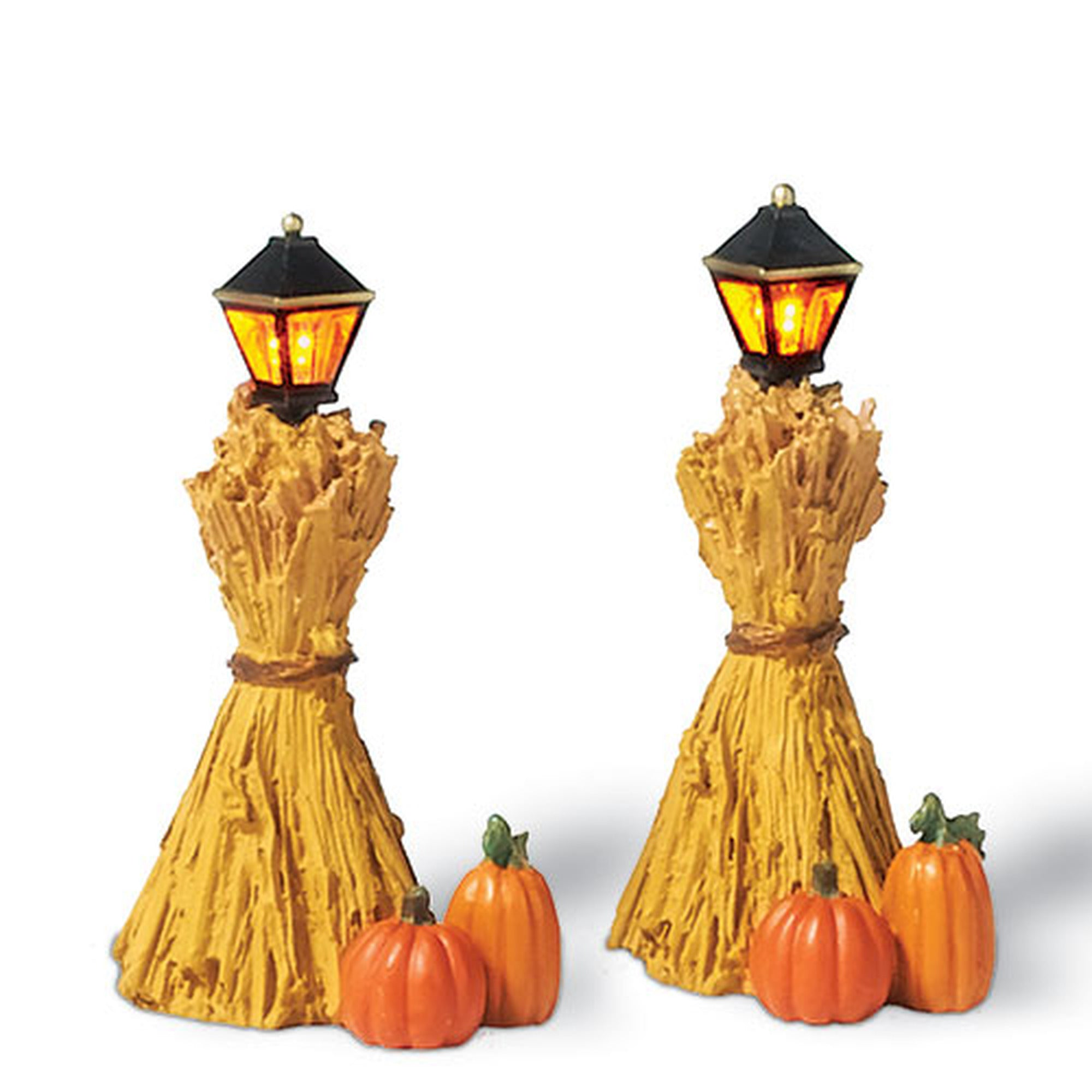 Corn Stalk Lanterns - Mini Lights for Halloween Harvest Village