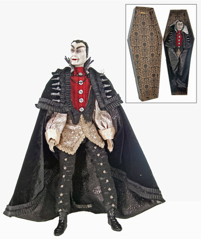 count vloodmyr vampire in coffin - Vampire Halloween Decorations