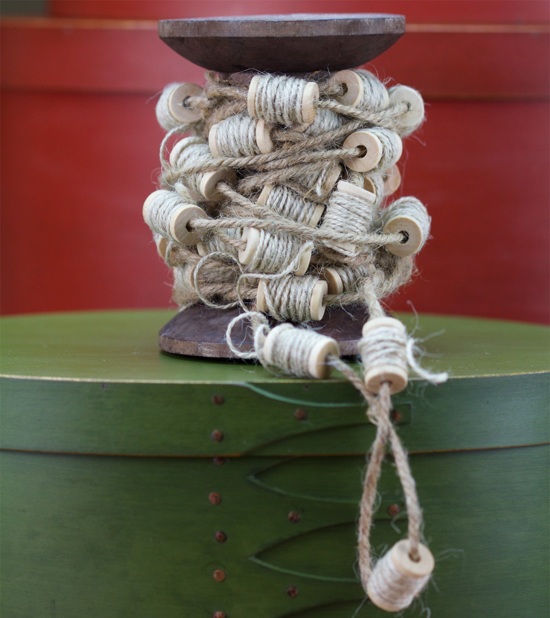 Country Christmas Spool Garland