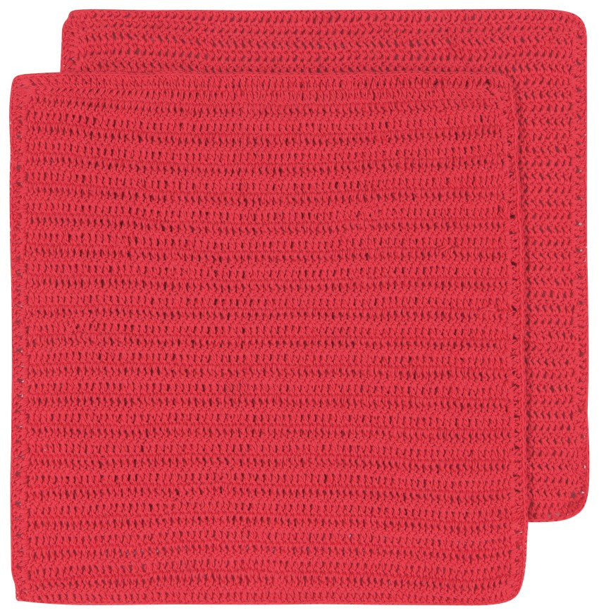 Crocheted Dishcloths, Red