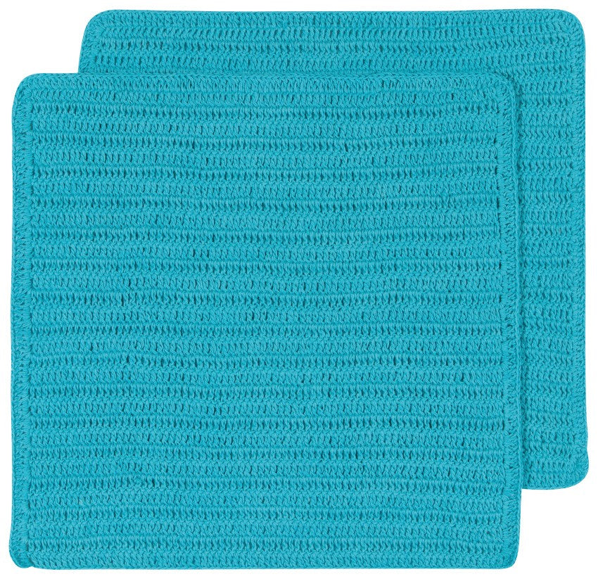 Crocheted Dishcloths, Bali Blue