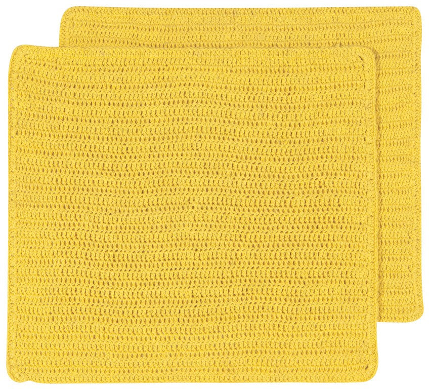 Crocheted Dishcloths, Yellow