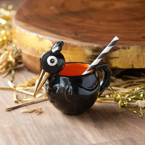 Crowie Black Crow Punch Cup by Glitterville Halloween