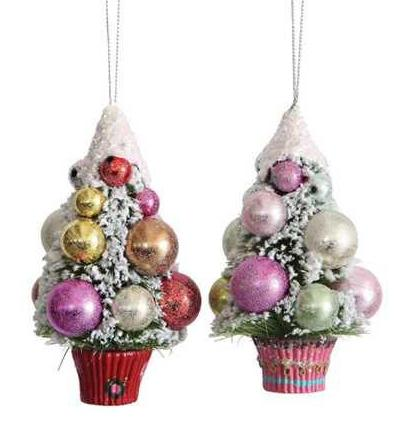 Christmas Tree Cupcake Ornaments