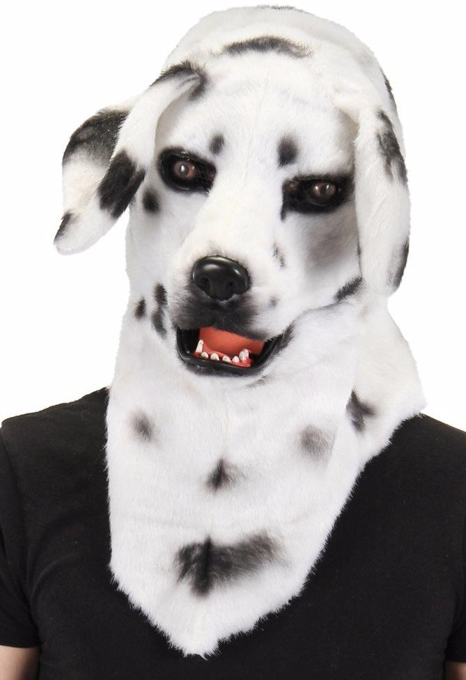 Dalmatian Mask with Mouthing Mask Halloween Costume