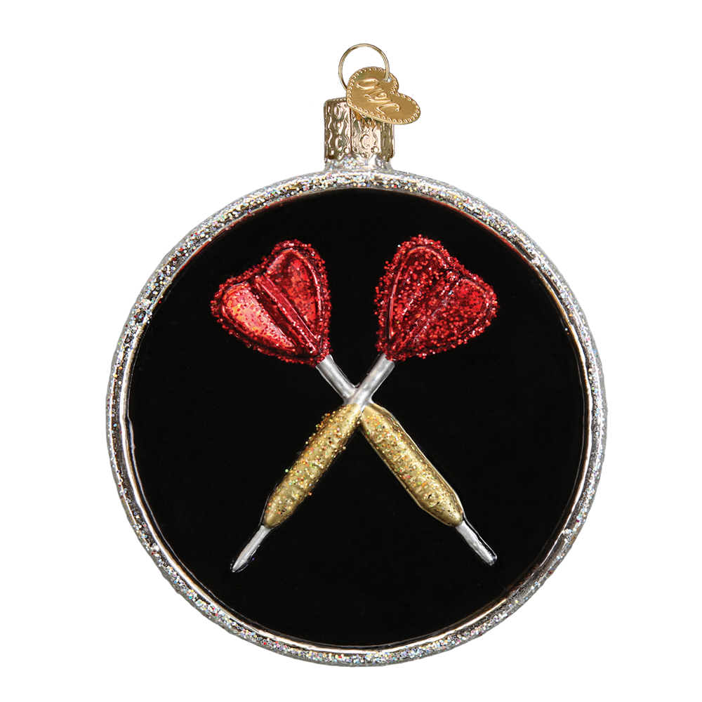 Glass Dartboard Ornament - Backside