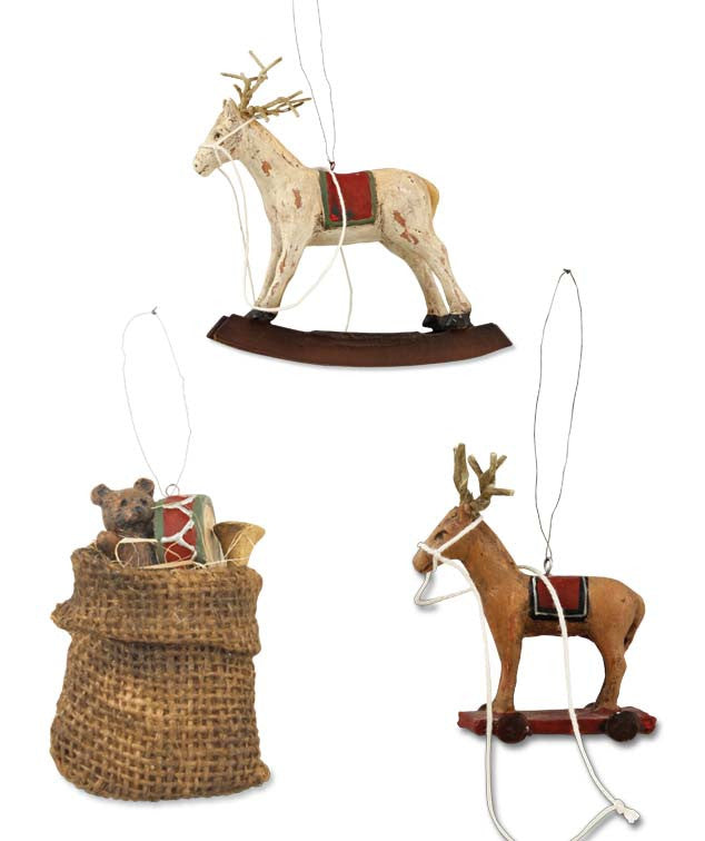 Bethany Lowe Dash Away Ornaments. Old Fashioned Christmas.