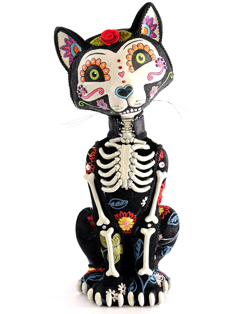 Katherine's Collection Day of the Dead Cat Figurine