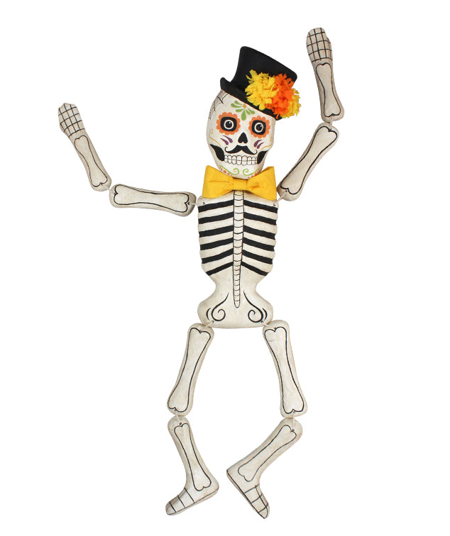 Day of the Dead Skeleton, Large Paper Mache