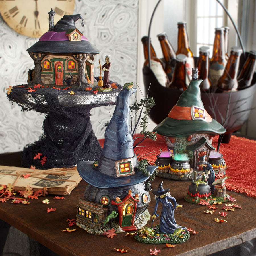 Dept 56 Witch Hat Village Halloween House Display