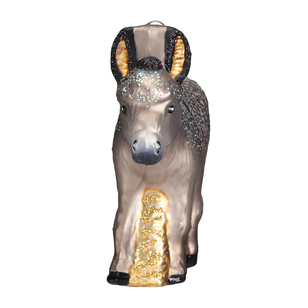Glass Donkey Ornaments by Old World Christmas