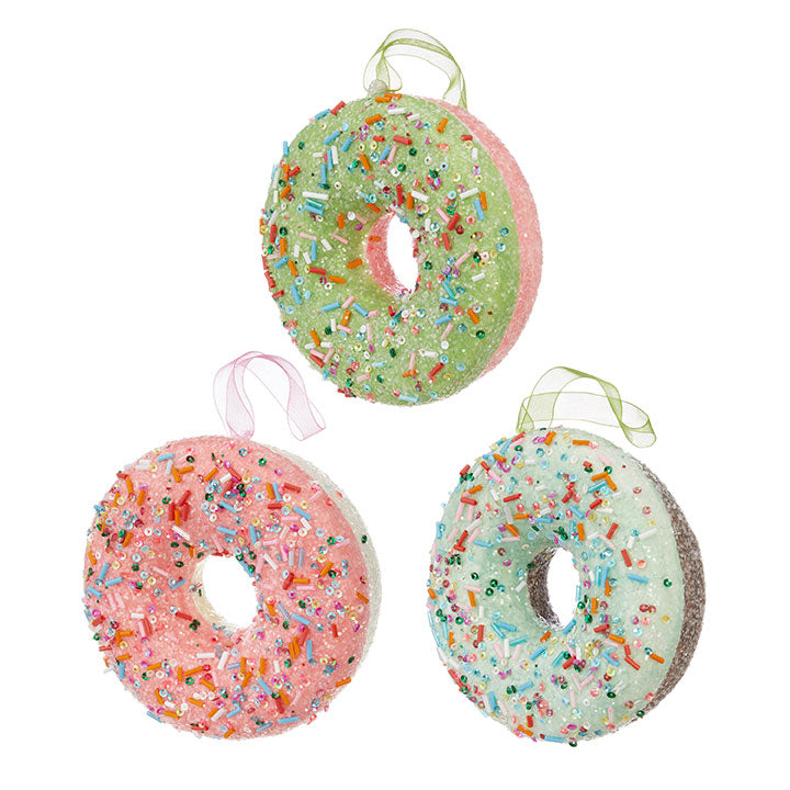 Donut Ornaments with Sprinkles
