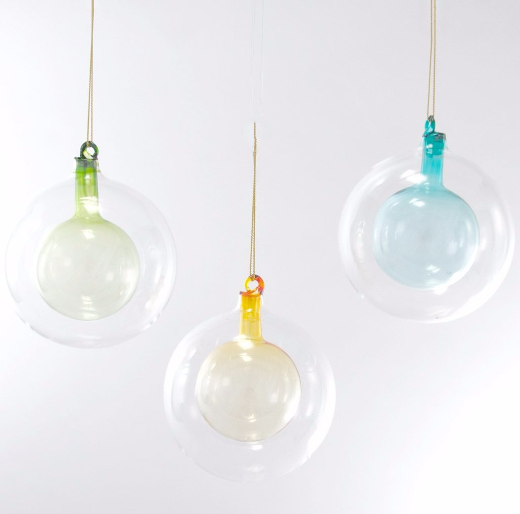 Double Glass Sphere Ornaments - Modern Glass Ball