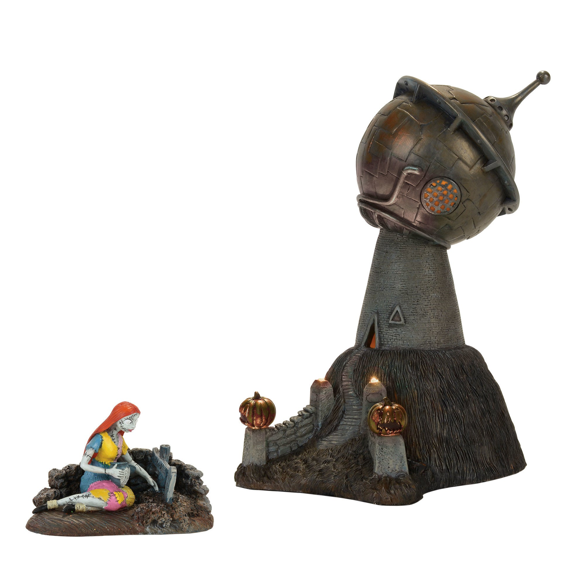 Dr. Finkelstein's Observatory & Sally Figure Set - Nightmare Before Christmas Village