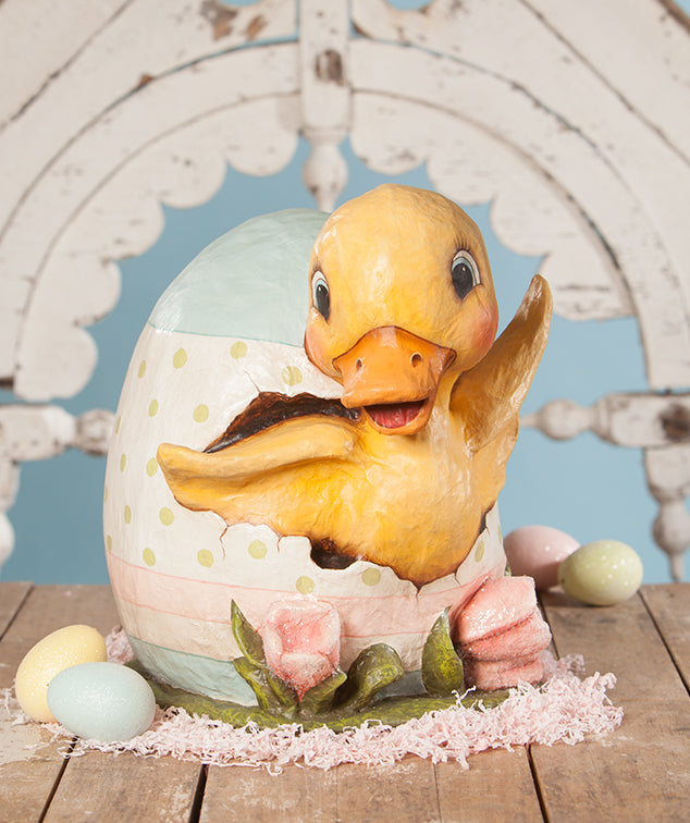Ducky Egg, Paper Mache by Bethany Lowe