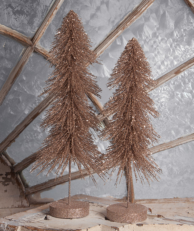Elegant Down Swept Sisal Trees with Glitter
