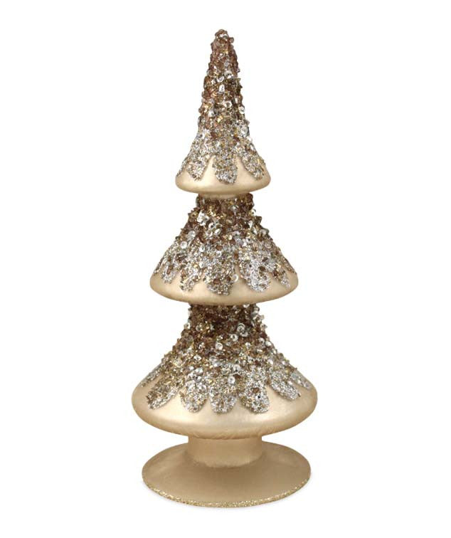 Elegant Glass Finial Tree - Bethany Low Christmas