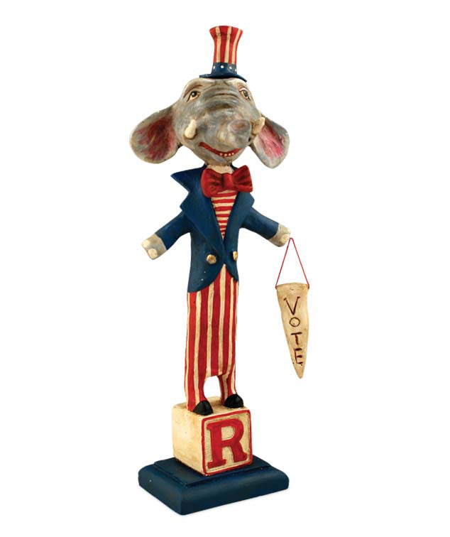 Republican Elphonse - Election Year Elephant by Debra Schoch
