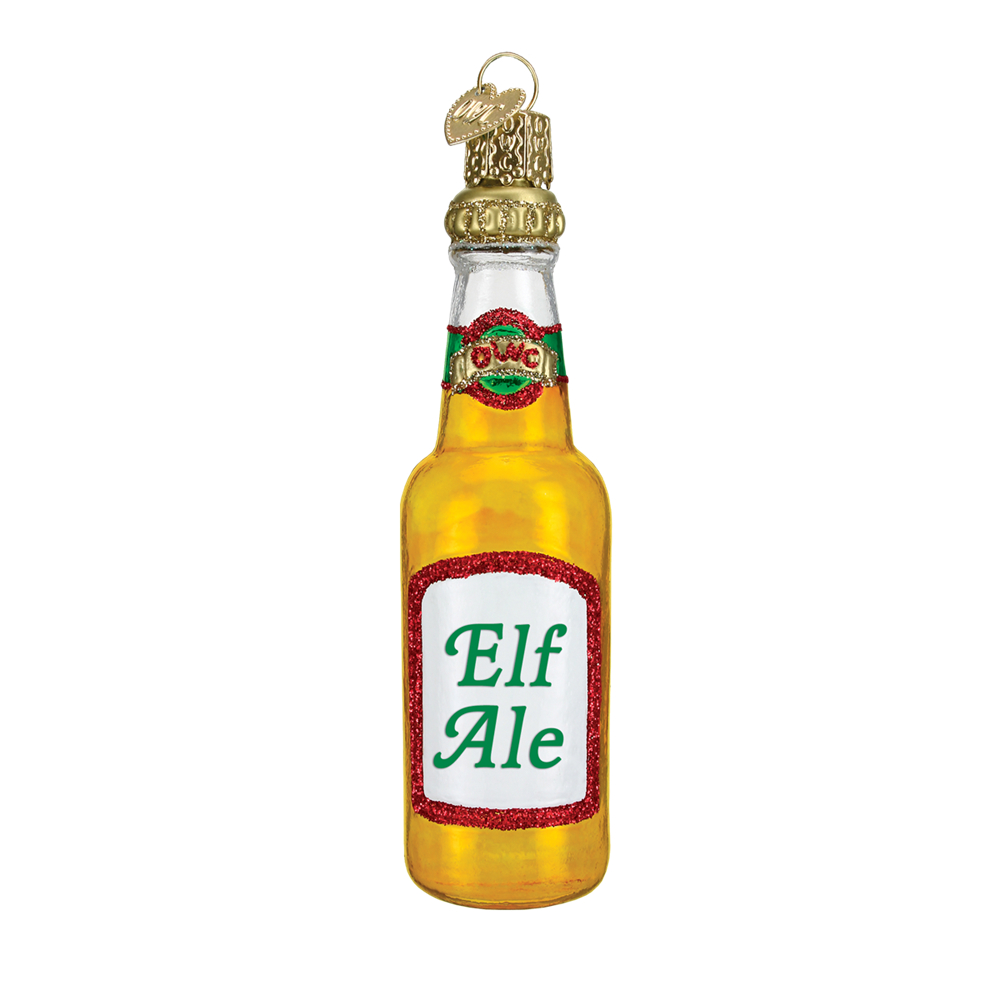 Elf Ale Beer Bottle Christmas Ornament