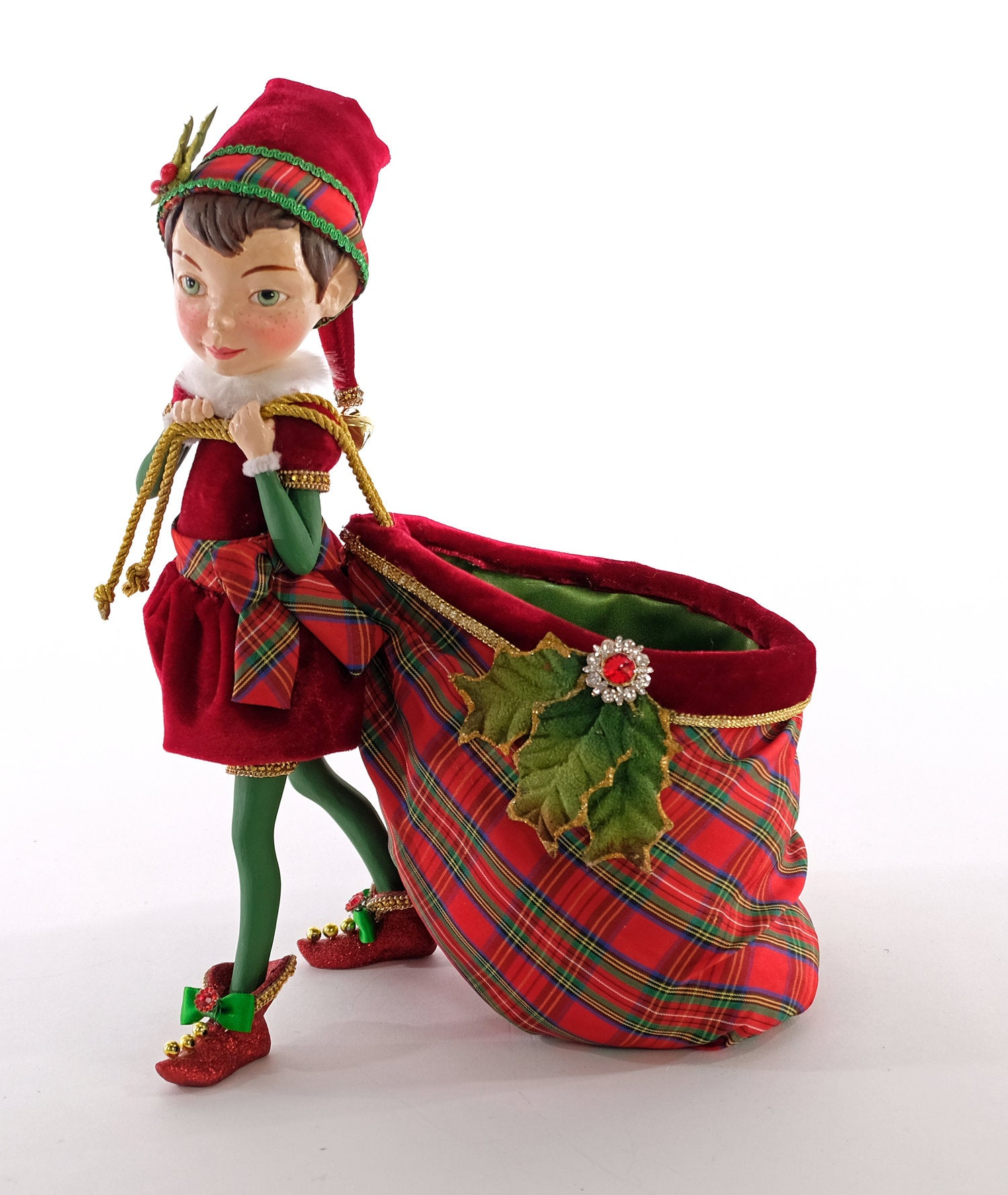Katherine's Collection Elf with Toy Bag