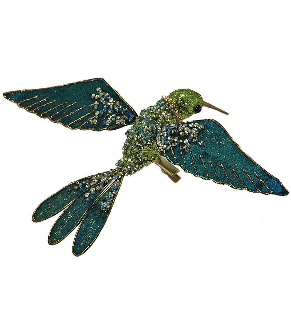 Encrusted Humming Bird Clip
