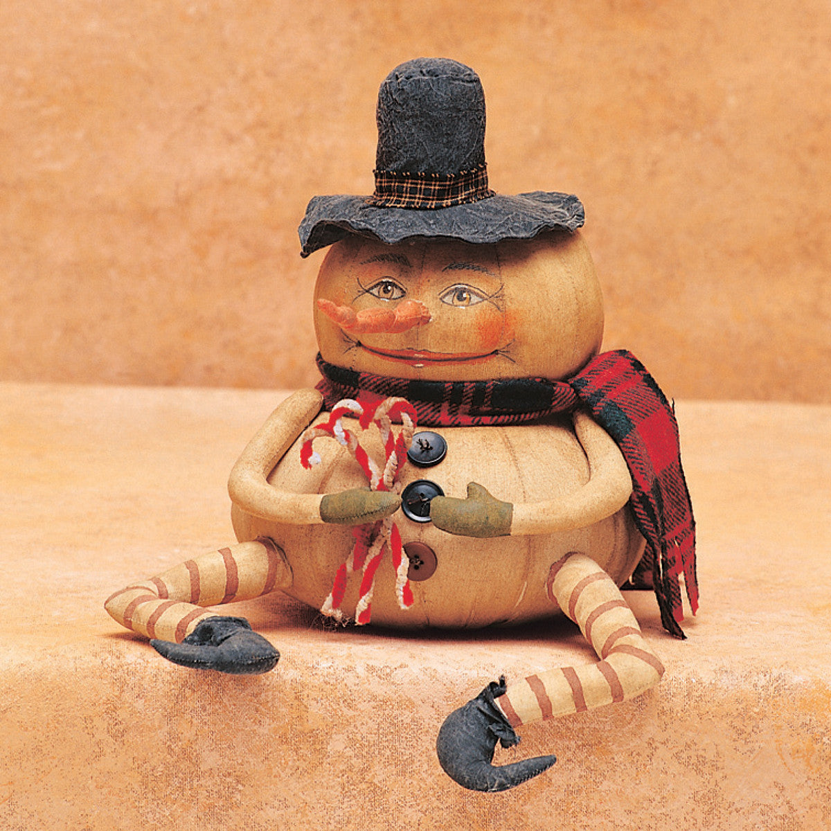 Ernie Snowman - Joe Spencer Primitive Cloth Christmas Doll