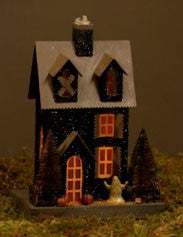 Glitter Huanted Historic House Lantern