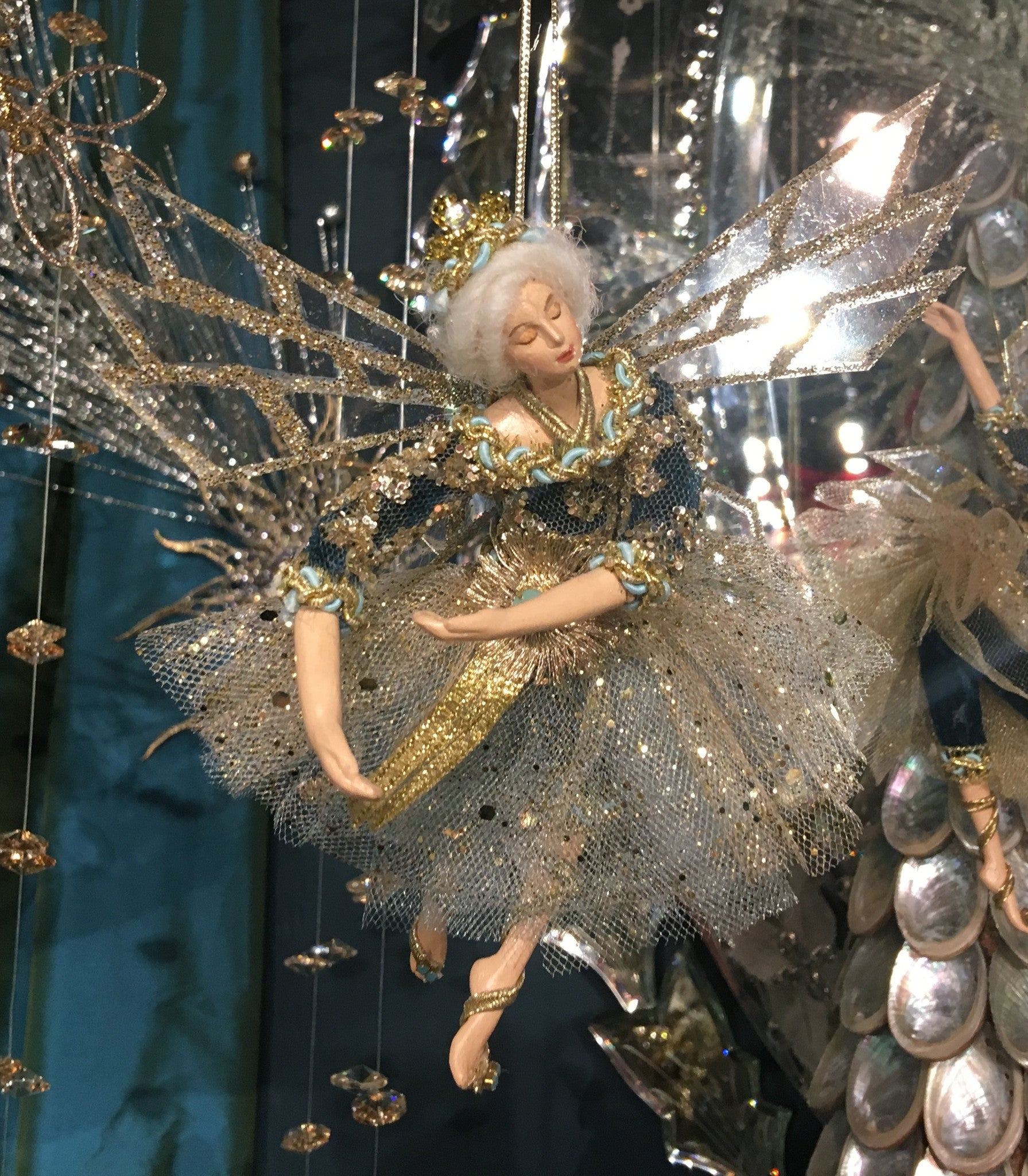 Elegant Fairy Ornament - Blue