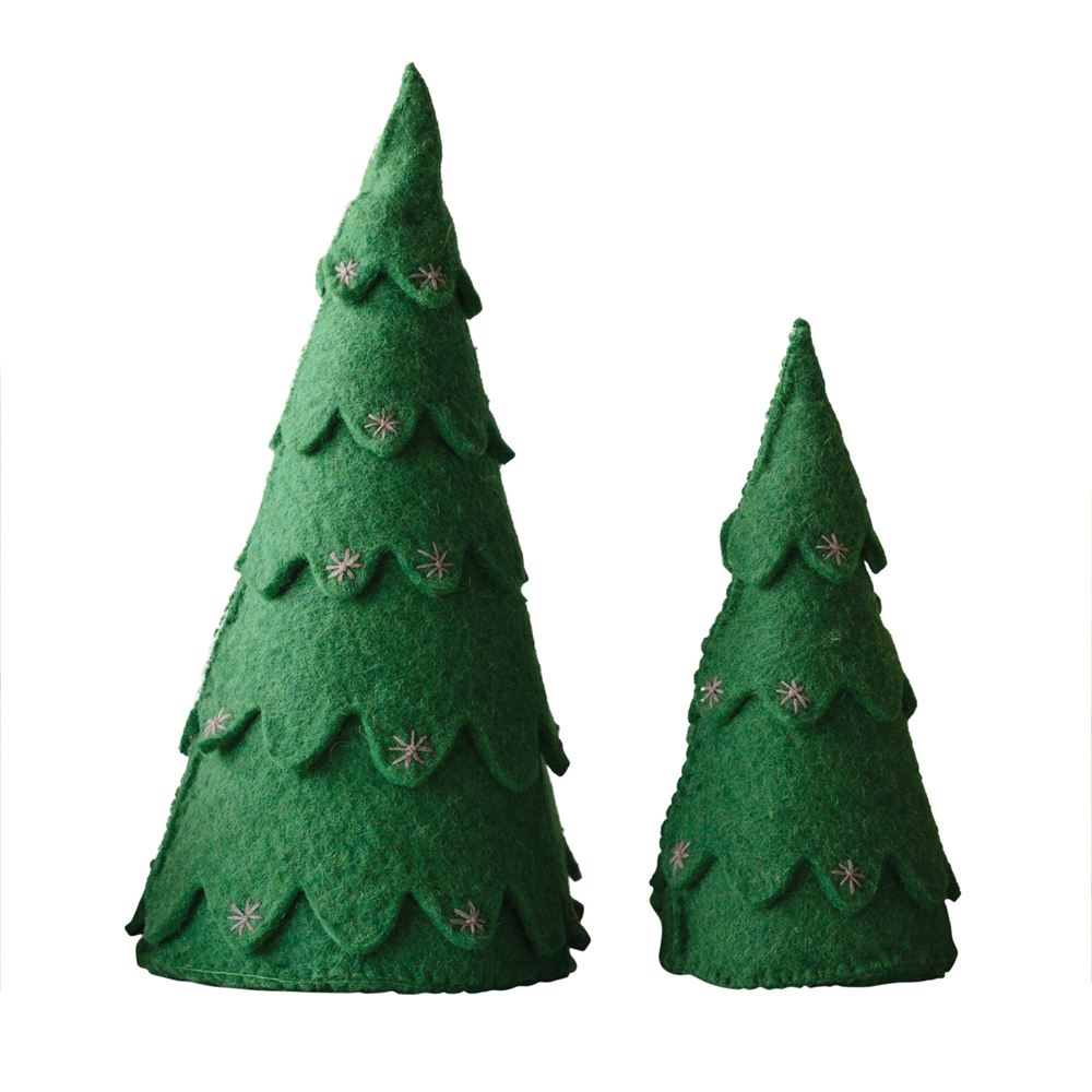 Evergreen Felt Trees